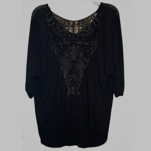 i Jeans by Buffalo Tempest Lace Top M EUC